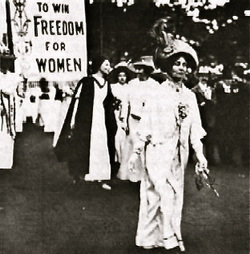 the womans suffrage movement in the 1800s Voting rights for women: pro- and anti-suffrage in the woman's rights movement of the 19th and early states to grant full voting rights for women were.